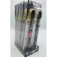 Black Toothbrush Bamboo and Coal Twin Lotus (pack 12 pcs)