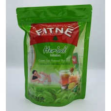 Fitné Herbal infusion Green tea flavored 30 tea bag