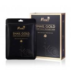 Facial mask Snail and Gold Moods 10 pcs