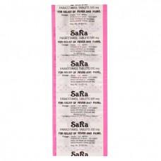 Sara Paracetamol 500 mg 10 tablets